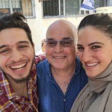 """רונה לי שמעון (מחזור 2011) עם יורם ועם שאדי מרעי (שחקן שנה ב') איתו היא משחקת ב""""פאודה"""""""